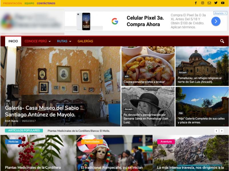 resultados de un servicio seo en un blog de turismo en peru